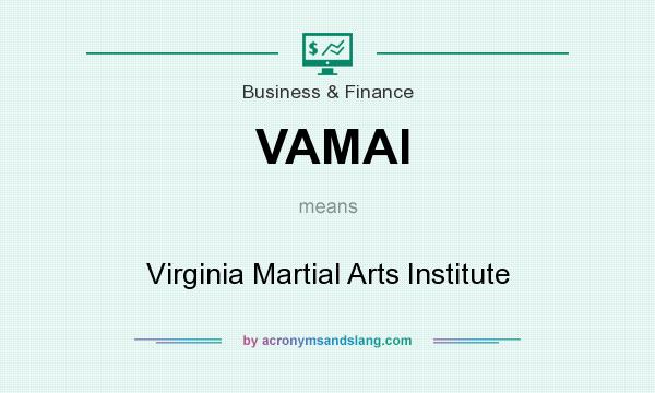 What does VAMAI mean? It stands for Virginia Martial Arts Institute