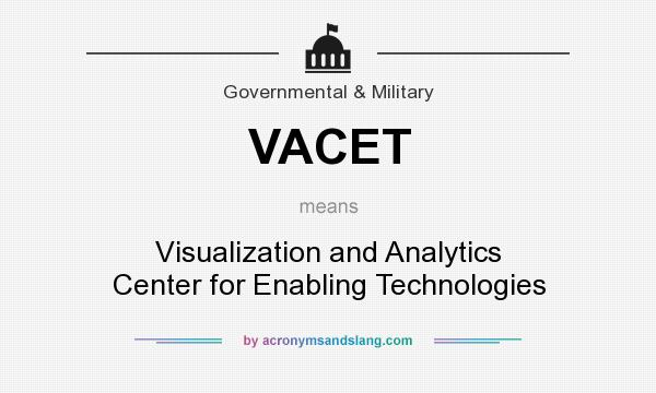 What does VACET mean? It stands for Visualization and Analytics Center for Enabling Technologies