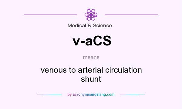 What does v-aCS mean? It stands for venous to arterial circulation shunt