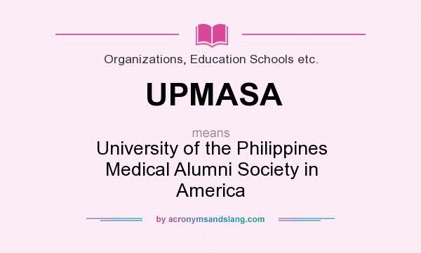 What does UPMASA mean? - Definition of UPMASA - UPMASA