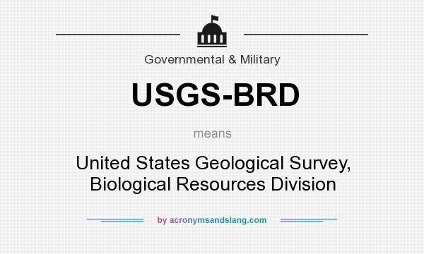 What does USGS-BRD mean? It stands for United States Geological Survey, Biological Resources Division