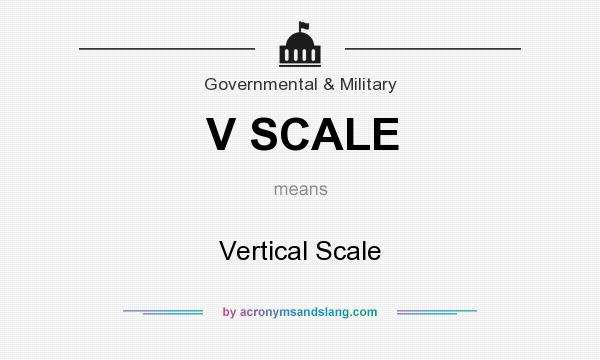 What does V SCALE mean? It stands for Vertical Scale