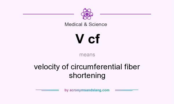 What does V cf mean? It stands for velocity of circumferential fiber shortening