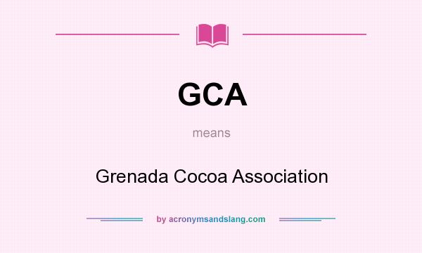what does gca stand for in gca services