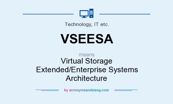 What does VSEESA mean? It stands for Virtual Storage Extended/Enterprise Systems Architecture