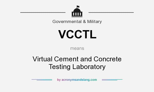 What does VCCTL mean? It stands for Virtual Cement and Concrete Testing Laboratory