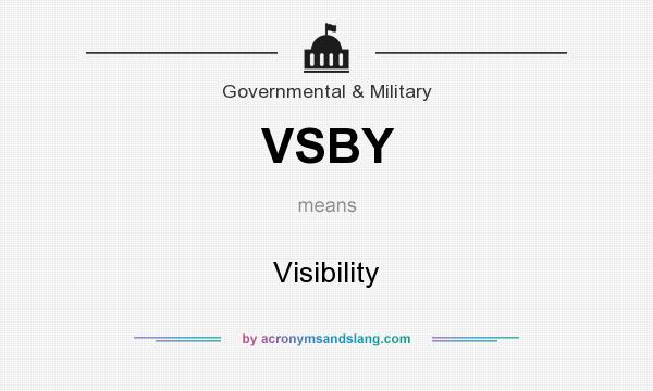 What does VSBY mean? It stands for Visibility