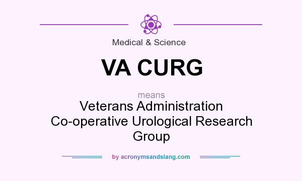 What does VA CURG mean? It stands for Veterans Administration Co-operative Urological Research Group