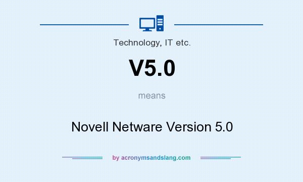 What does V5.0 mean? It stands for Novell Netware Version 5.0