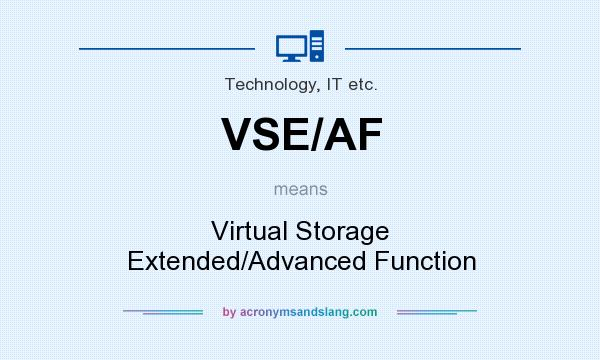What does VSE/AF mean? It stands for Virtual Storage Extended/Advanced Function