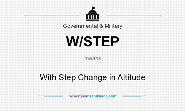 What does W/STEP mean? It stands for With Step Change in Altitude