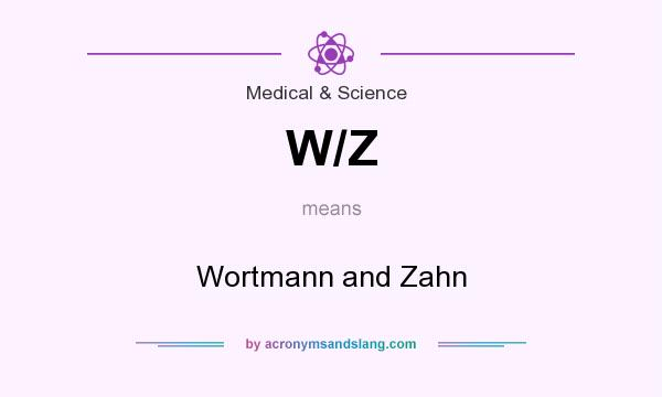 What does W/Z mean? It stands for Wortmann and Zahn