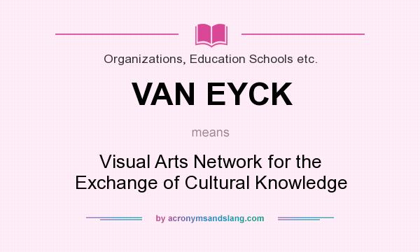 What does VAN EYCK mean? It stands for Visual Arts Network for the Exchange of Cultural Knowledge