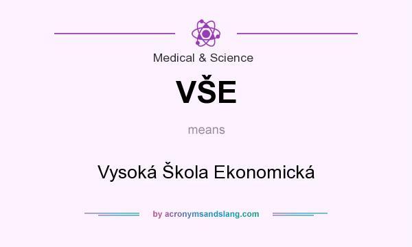 What does VŠE mean? It stands for Vysoká Škola Ekonomická