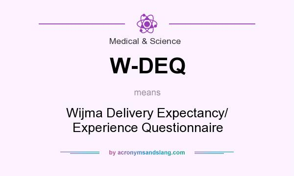 What does W-DEQ mean? It stands for Wijma Delivery Expectancy/ Experience Questionnaire