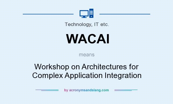 What does WACAI mean? It stands for Workshop on Architectures for Complex Application Integration