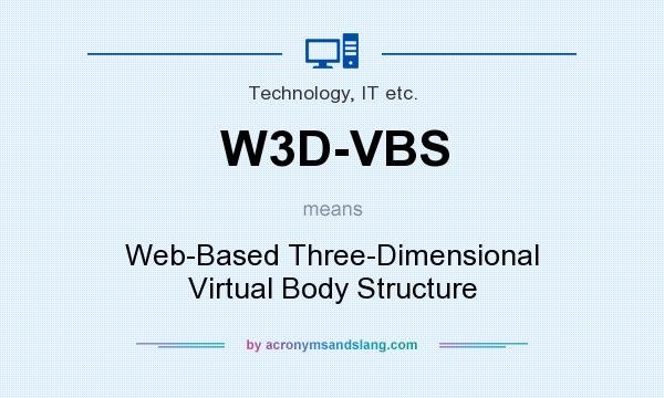 What does W3D-VBS mean? It stands for Web-Based Three-Dimensional Virtual Body Structure