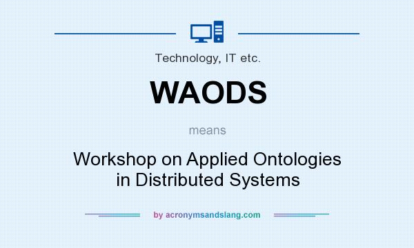 What does WAODS mean? It stands for Workshop on Applied Ontologies in Distributed Systems