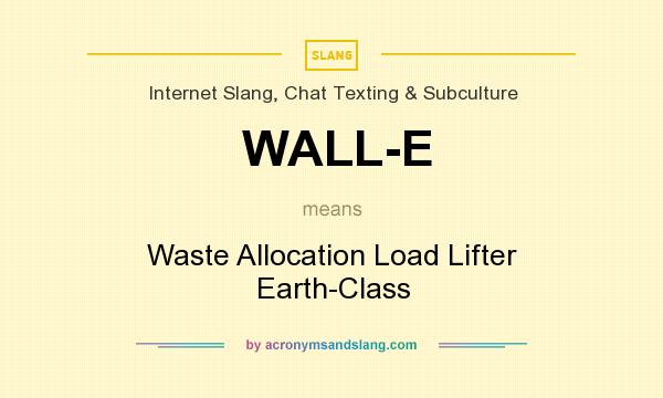 What Does Wall E Mean Definition Of Stands For Waste Allocation Load Lifter Earth Cl By Acronymsandslang