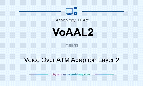 What does VoAAL2 mean? It stands for Voice Over ATM Adaption Layer 2