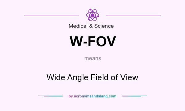 What does W-FOV mean? It stands for Wide Angle Field of View