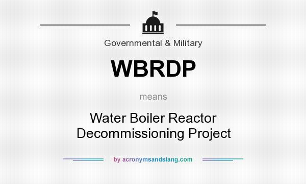 What does WBRDP mean? - Definition of WBRDP - WBRDP stands for Water ...
