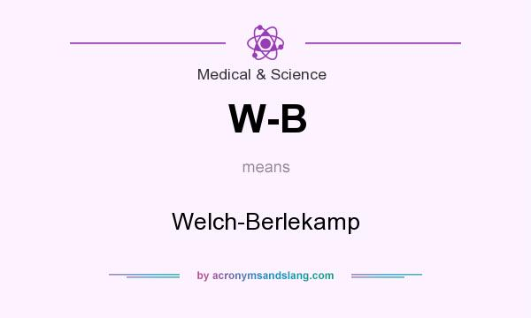 What does W-B mean? It stands for Welch-Berlekamp
