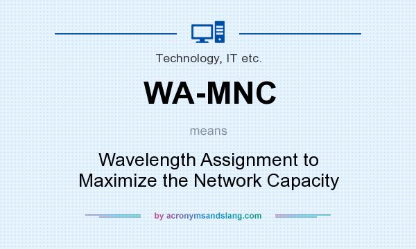 What does WA-MNC mean? It stands for Wavelength Assignment to Maximize the Network Capacity