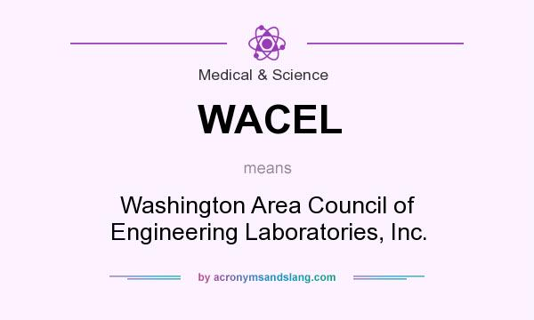 What does WACEL mean? It stands for Washington Area Council of Engineering Laboratories, Inc.