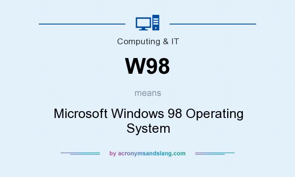 What does W98 mean? It stands for Microsoft Windows 98 Operating System