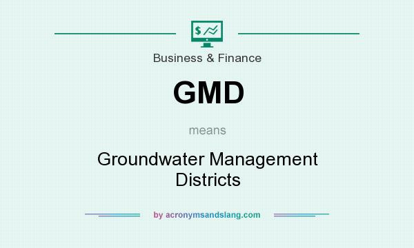 What does GMD mean? It stands for Groundwater Management Districts