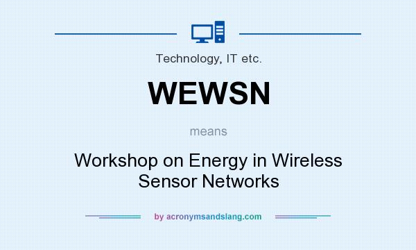 What does WEWSN mean? It stands for Workshop on Energy in Wireless Sensor Networks