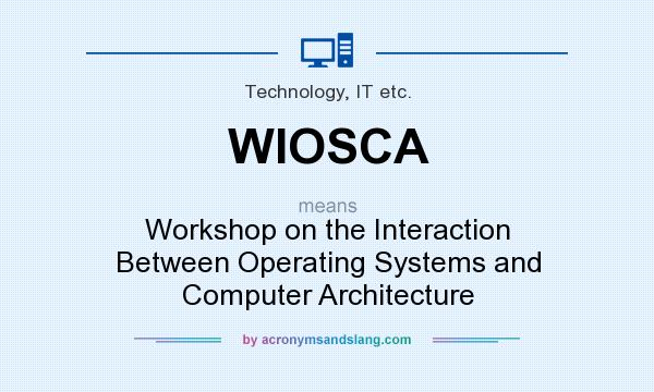What does WIOSCA mean? It stands for Workshop on the Interaction Between Operating Systems and Computer Architecture