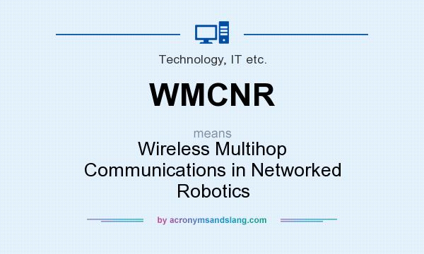 What does WMCNR mean? It stands for Wireless Multihop Communications in Networked Robotics