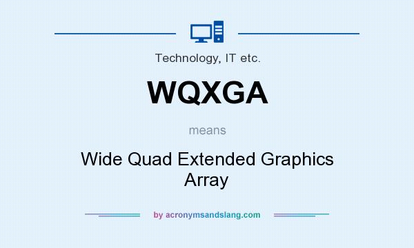 What does WQXGA mean? It stands for Wide Quad Extended Graphics Array