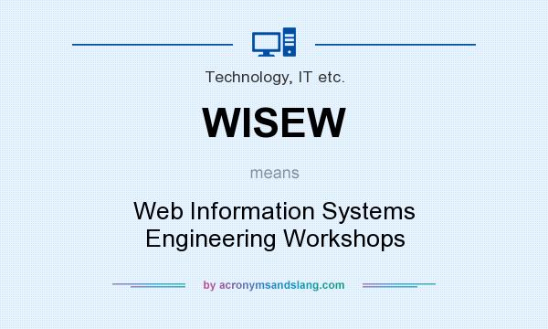 What does WISEW mean? It stands for Web Information Systems Engineering Workshops