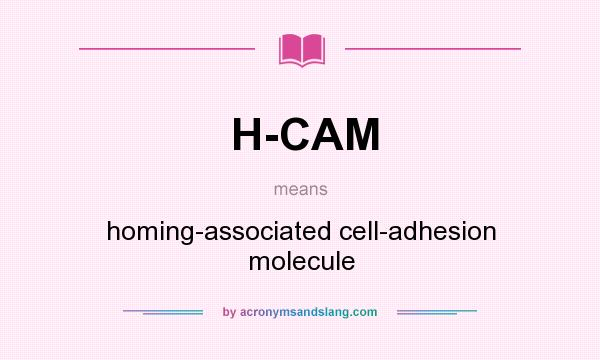 What does H-CAM mean? It stands for homing-associated cell-adhesion molecule