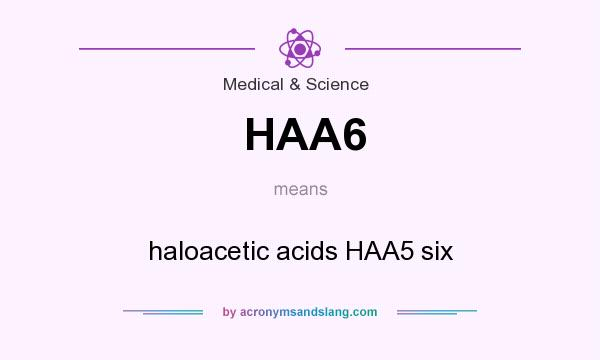 What does HAA6 mean? It stands for haloacetic acids HAA5 six