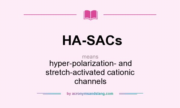 What does HA-SACs mean? It stands for hyper-polarization- and stretch-activated cationic channels