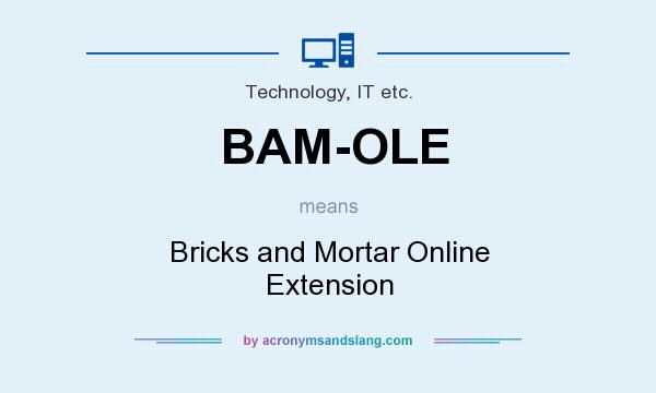 What does BAM-OLE mean? It stands for Bricks and Mortar Online Extension