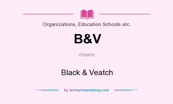 What does B&V mean? It stands for Black & Veatch