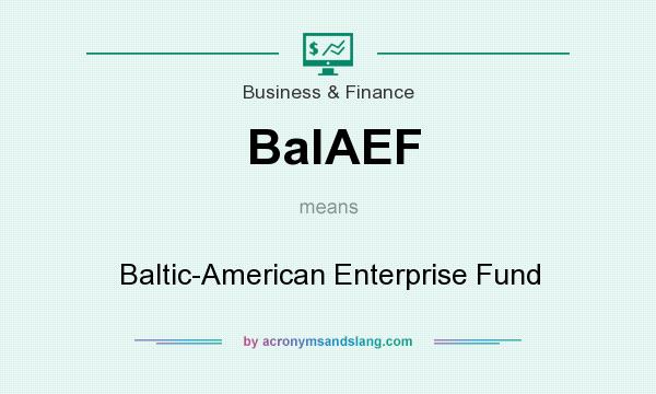 What does BalAEF mean? It stands for Baltic-American Enterprise Fund