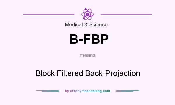 What does B-FBP mean? It stands for Block Filtered Back-Projection