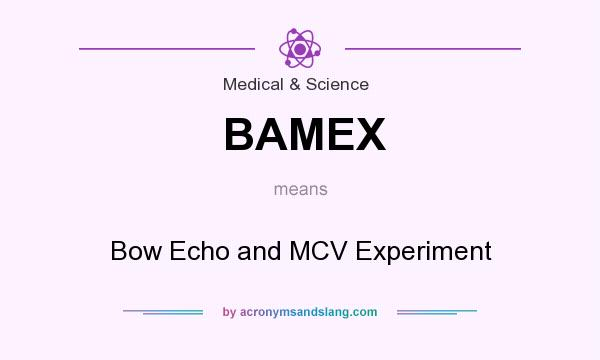 What does BAMEX mean? It stands for Bow Echo and MCV Experiment