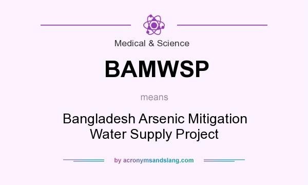 What does BAMWSP mean? It stands for Bangladesh Arsenic Mitigation Water Supply Project