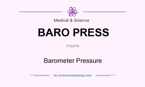 What does BARO PRESS mean? It stands for Barometer Pressure
