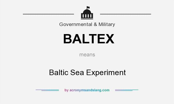 What does BALTEX mean? It stands for Baltic Sea Experiment