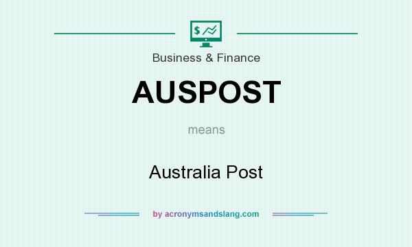 What does AUSPOST mean? It stands for Australia Post