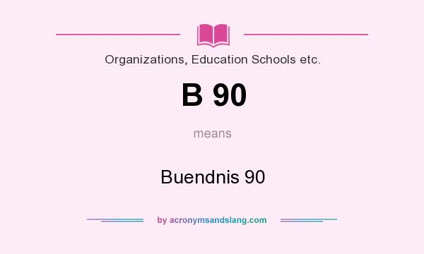 What does B 90 mean? It stands for Buendnis 90