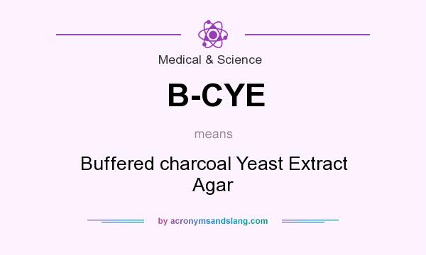 What does B-CYE mean? It stands for Buffered charcoal Yeast Extract Agar